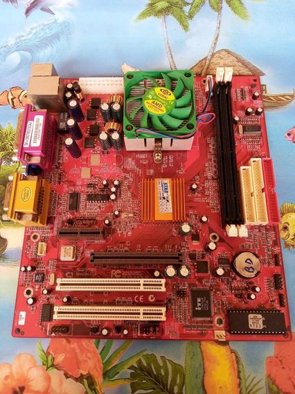 Placa Mae Pcchips M810 Socket 462 E Processador (no Estado)
