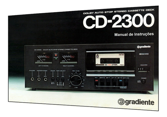 Manual Do Tape Deck Gradiente Cd-2300 (colorido)