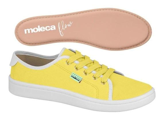 Tenis Feminino Amarelo/branco Moleca 5657.217