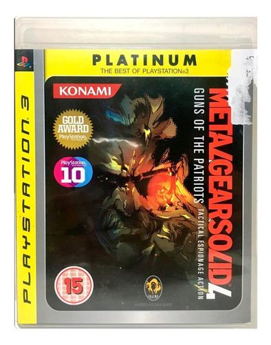 Imagem 1 de 3 de Jogo Ps3 Metal Gear Solid 4 Guns Of The Patriots Midia Fisic