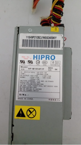 Fonte Hipro Mod:hp-m1854f3t 100w Ref.ac220 Usada