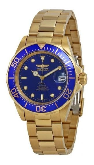 Relógio Invicta Masculino Pro Diver Automatic Azul 23kilts