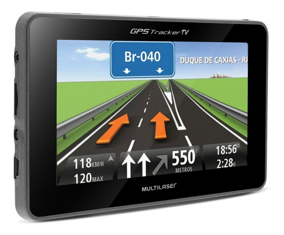 Gps Automotivo Multilaser Tela 4,3 Tracker Slim Tv Mp3 Radar