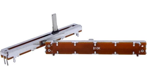Potenciômetro Deslizante Mono 10kb B10k B103 Percurso 60mm
