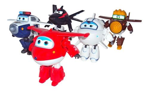 Imagen 1 de 4 de Figuras Transformables Súper Wings 5 Pack Fotorama