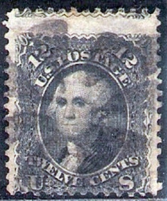 Selo Postal Estados Unidos 1861 - George Washington 23a Yt