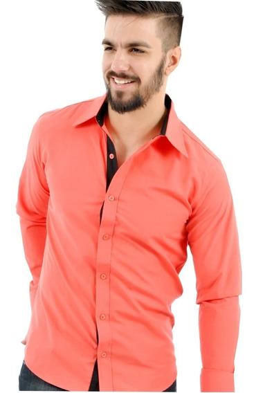 Camisa Masculina Social Justa Promoção Revenda Slim Atacado