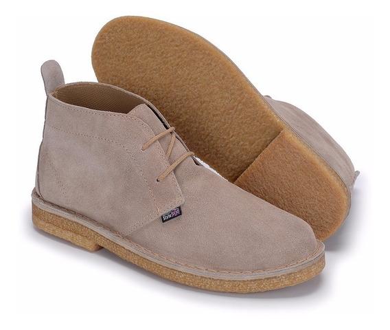 Sapatos Em Solado Crepe Desert Estilo Clarks De Camurça