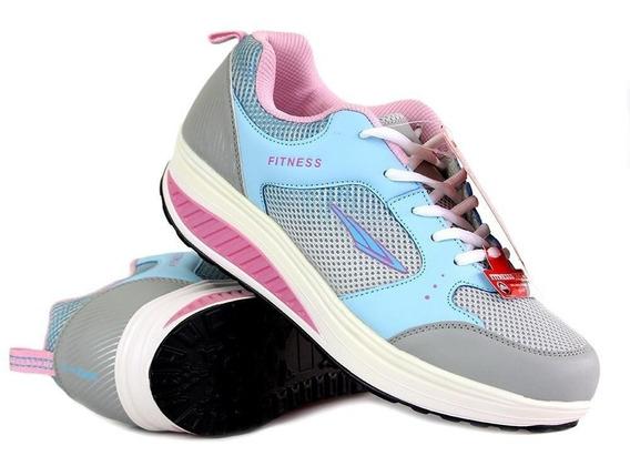 Tenis Para Tonificar Caminar Adelgazar Fitness Agua - Rosa