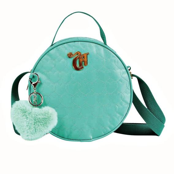 Bolsa Transversal Capricho 11348 Azul Tiffany C/ Chaveiro