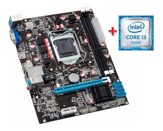 Kit Placa Mãe 1155 + Processador I3 C/garantia . Sem Espelho