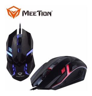 Mouse Gamer Usb Meetion M371 Ergonomico Cambia Color 1600dpi