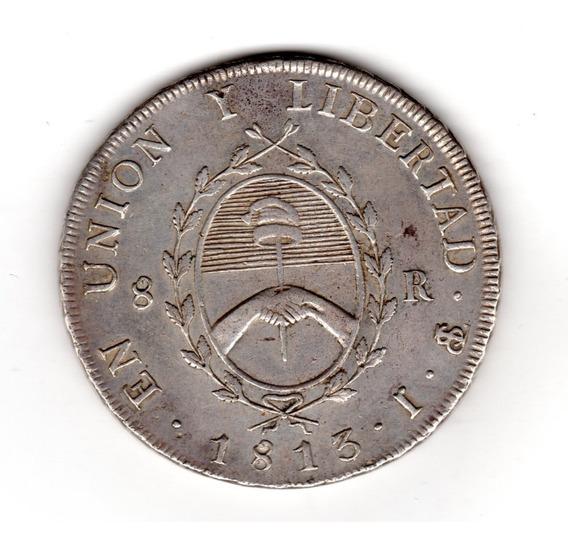 Bkz / Argentina - 8 Reales 1813 Provincias Unidas Plata