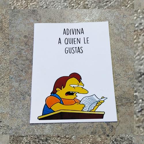 Imagen 1 de 7 de Tarjetas De San Valentín Simpsons Adivina A Quien Le Gustas