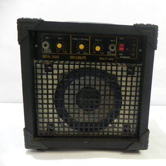 Caixa De Som Amplificadora Brabu