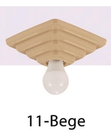 Kit 15 Plafon Rosqueável De Teto Luminária Pirâmide Quadrado