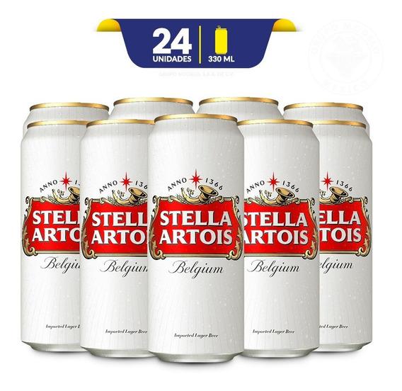Cerveza Importada Stella Artois 24 Latas De 330ml C/u