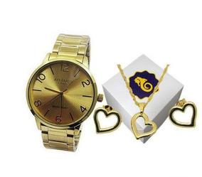 Relógio Atlantis Gold Feminino Especial Namorados