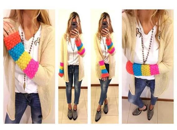 Saco Tejido A Mano Multicolor!!! Grandiosas Latinas