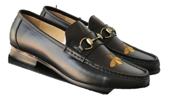Zapatos Gucci Colo Negro Con Abeja Envio Gratis