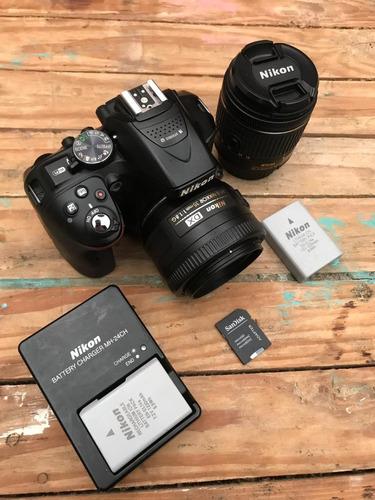 Dslr Nikon D5300 + 18-55mm + 35mm Autofoco + 32gb