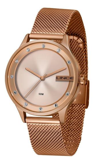 Relogio Lince Feminino Lrr4623l R1rx Rose Lançamento