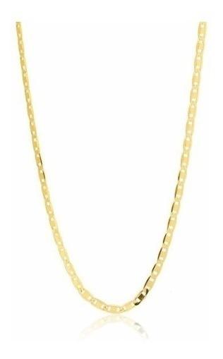 Cordão Corrente Piastrine 60cm Maciça Ouro 18k 750