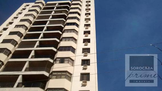 Apartamento Residencial À Venda, Centro, Edifício Tarumã Em Sorocaba-sp, 2 Vagas De Garagem, 3 Suítes, Área Útil 303,00 M². - Ap0048