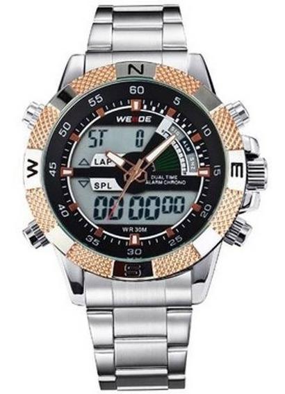Relógio Masculino Weide Wh-1104 Ouro