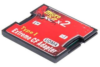 Adaptador De Memoria Micros Sd A Cf, Soporta Hasta 128 Gb