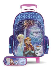 Kit Frozen Elsa Anna Mochilete Lancheira Estojo Original