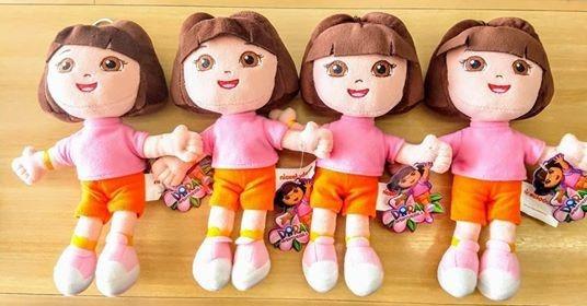 Kit Com 4 Dora Aventureira Nickelodeon Pelucia Original 24cm