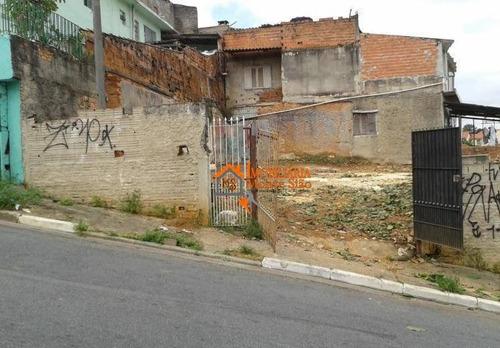 Terreno À Venda, 217 M² Por R$ 360.000,00 - Parque Santo Antônio - Guarulhos/sp - Te0064