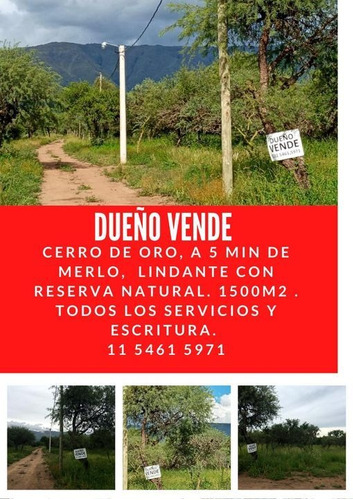 Dueño Vende Lotes  Desde 1500m2 En Zona Reserva Natural