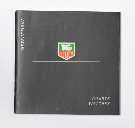 Manual De Relógio Tag Heuer Quartz Watches 100% Original