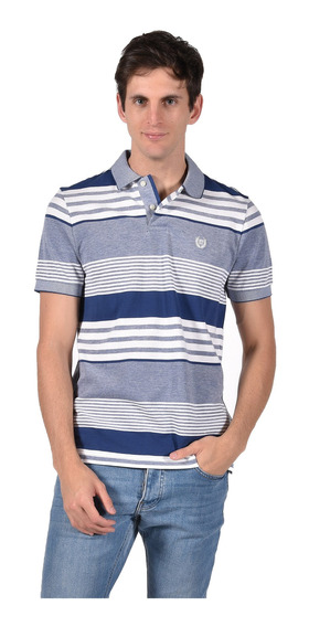 Polo Chaps Hombre 750711424-30cx Azul Mar