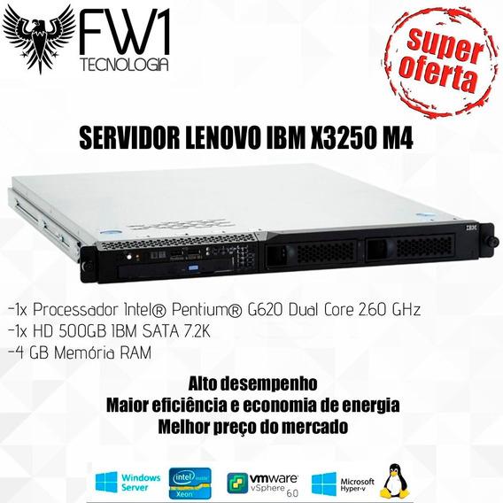Promocao Servidor Lenovo Ibm X3250 M4 /1xdualcore/500gb Sata