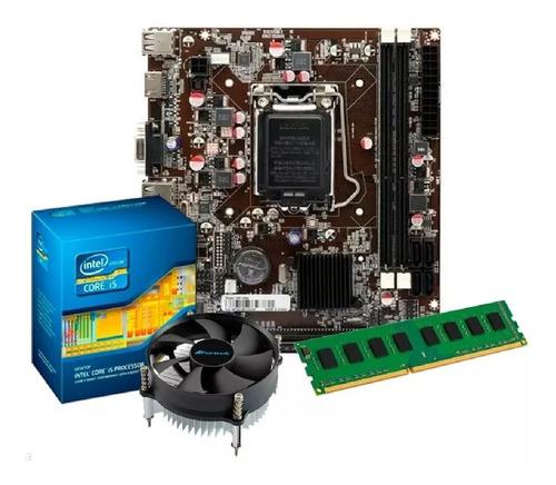 Imagem 1 de 8 de Kit Intel Core I5 2400 3.1 Ghz + Placa H61 + 4gb Ram Promoç