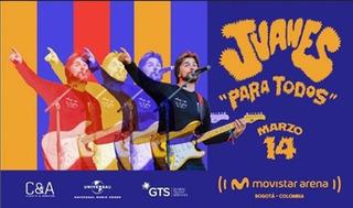 Boletas Concierto Juanes Movistar Arena - Marzo 14 2020
