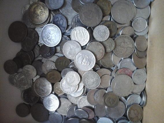 500 Moedas Nacionais(bronze,níquel, Aço)