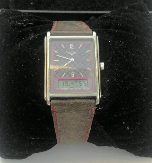Relógio Longines Com Cronômetro Calendário E Alarme