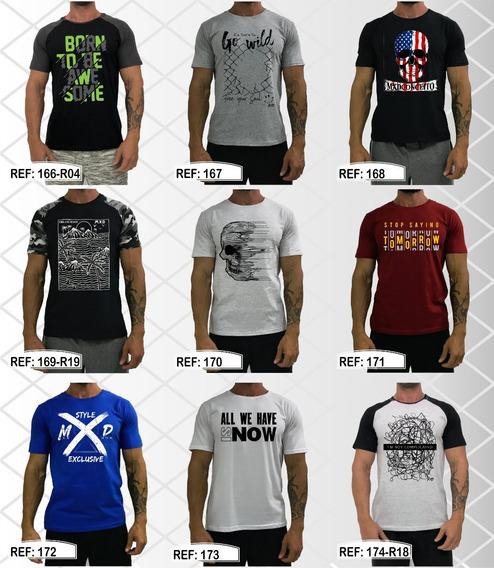 Kit 6 Camisetas Masculina Academia Blusa Treino Estampadas