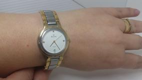 Lindo Relógio Pulso Bulova - Misto Aço E Ouro - Day