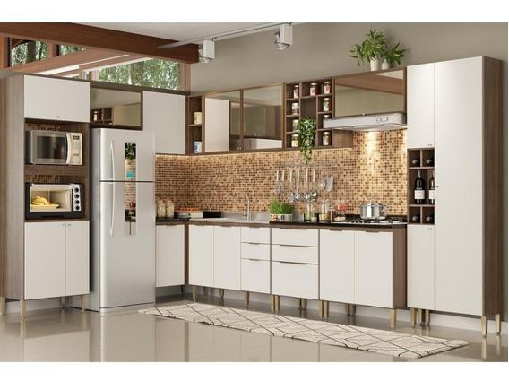 Cozinha Completa Thb Delicatta 16p E 6g Nogal/off White