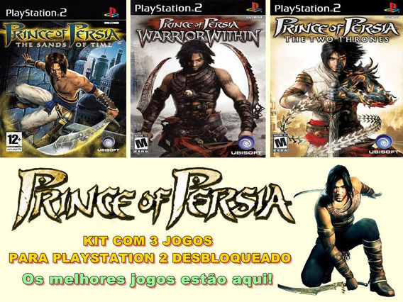 Kit Com 3 Jogos Prince Of Persia - Playstation 2