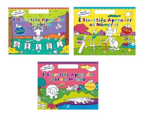 Livro É Divertido Aprender Coleção Kit C/3 Ciranda Cultural
