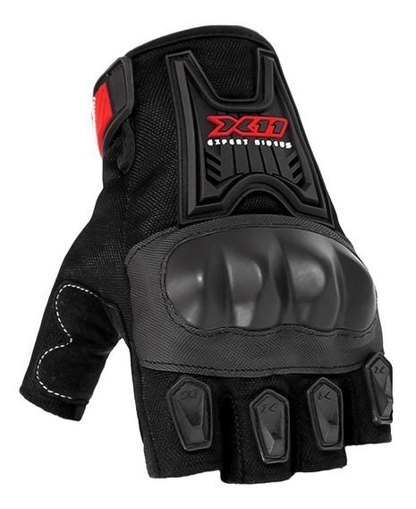 Luva X11 Blackout Meio Dedo Verão Motociclista Motoqueiro !