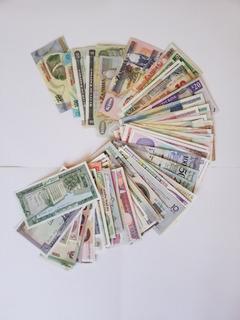 Lote 82 Billetes Del Mundo - Precio Por El Lote/envío Gratis