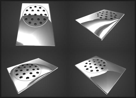 Kit 03 Ralo Pratic Para Box De Banheiro