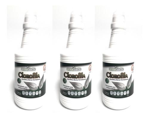 Clorofila Liquida Natural Health 750 Ml (3 Pz) Envio Full
